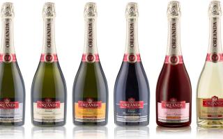 Шампанское «Ореанда» (OREANDA), виды шампанского «Ореанда»