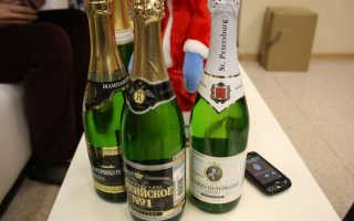 Шампанское «Санкт-Петербург», производство «Игристые вина», виды