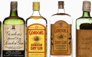 Джин Gordon's (Гордонс), виды джина Gordon's